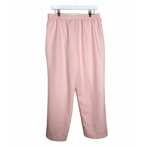 Alfred Dunner Vintage Pink High Waisted Pants 16
